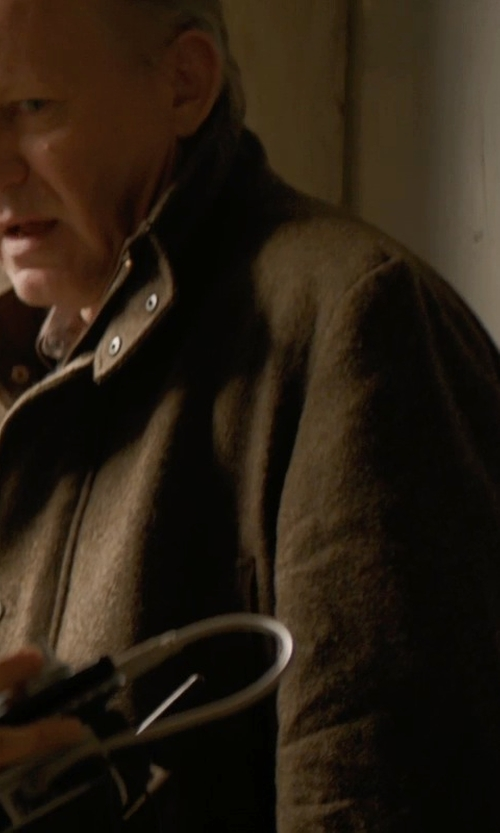 Stellan Skarsgård with JoS. A. Bank Heathered Wool Coat in Thor: The Dark World
