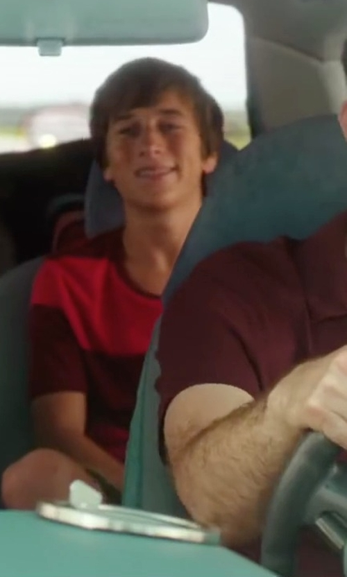 Skyler Gisondo with U.S. Polo Assn. Men's Wide Stripe T-Shirt in Vacation