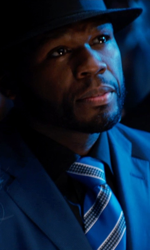 50 Cent with Boss Hugo Boss Stripe Silk Tie in Southpaw