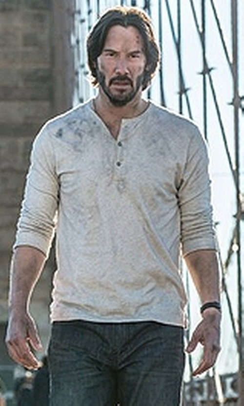 Keanu Reeves with Carl F. Bucherer Manero AutoDate Automatic Leather Watch in John Wick: Chapter 2