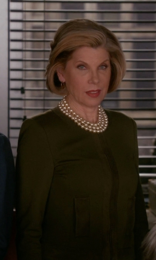 Christine Baranski with RVL Round Collar Blazer in The Good Wife