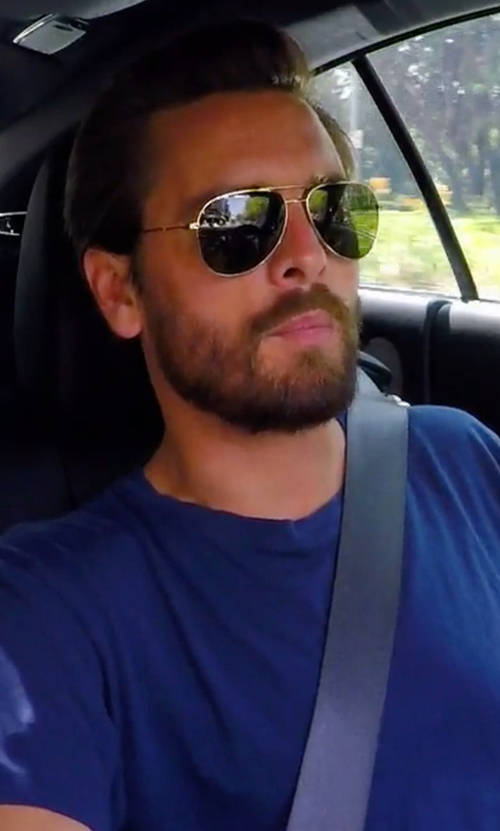 Scott Disick with John Elliott Classic Round Neck T-Shirt in Keeping Up With The Kardashians