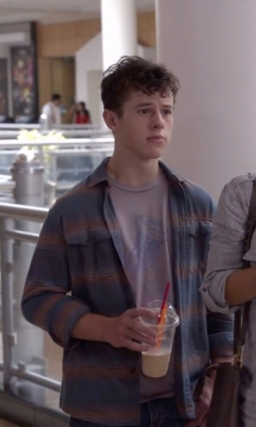 Nolan Gould with True Religion Western Plaid Mens Shirt in Modern Family
