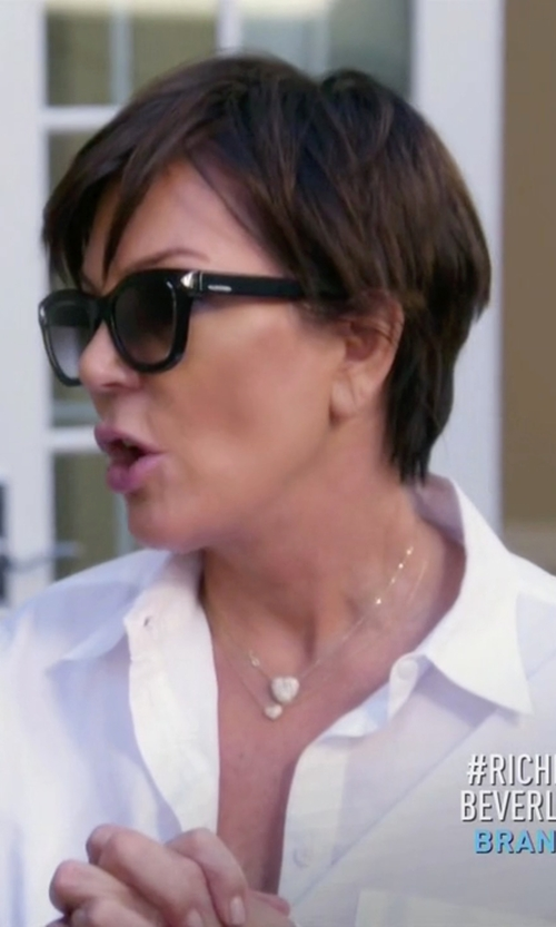 Kris Jenner with Tom Ford Cary Polarized Wayfarer Sunglasses in Keeping Up With The Kardashians