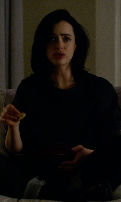 Krysten Ritter with Wilt Baby Backslant Sweatshirt in Jessica Jones