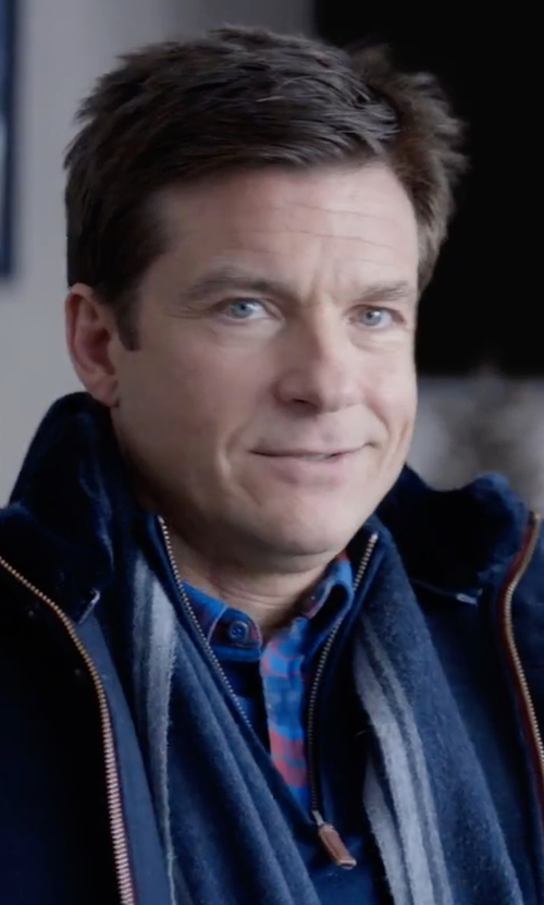 Jason Bateman with Peter Millar Merino Quarter-Zip Sweater in Office Christmas Party