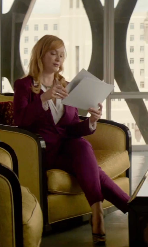 Christina Hendricks with Blumarine Casual Pants in The Neon Demon
