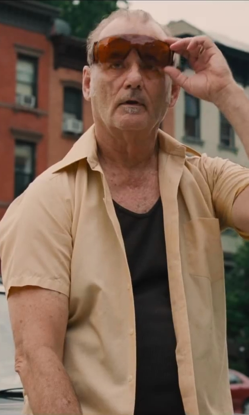 Bill Murray with Fitover Shield Sunglasses in St. Vincent
