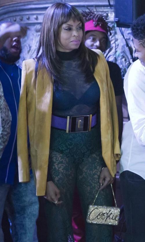 Taraji P. Henson with Balmain Lace Trousers in Empire