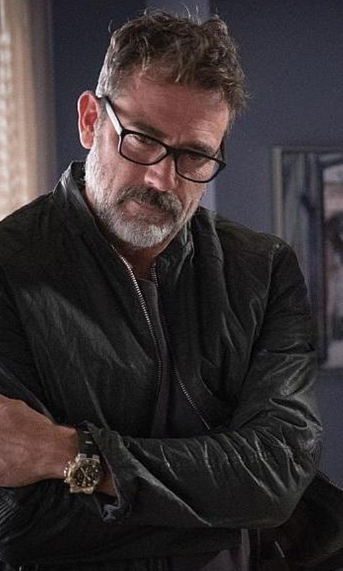 Jeffrey Dean Morgan with Theory  Kelleher Morvek L Leather Jacket in The Good Wife
