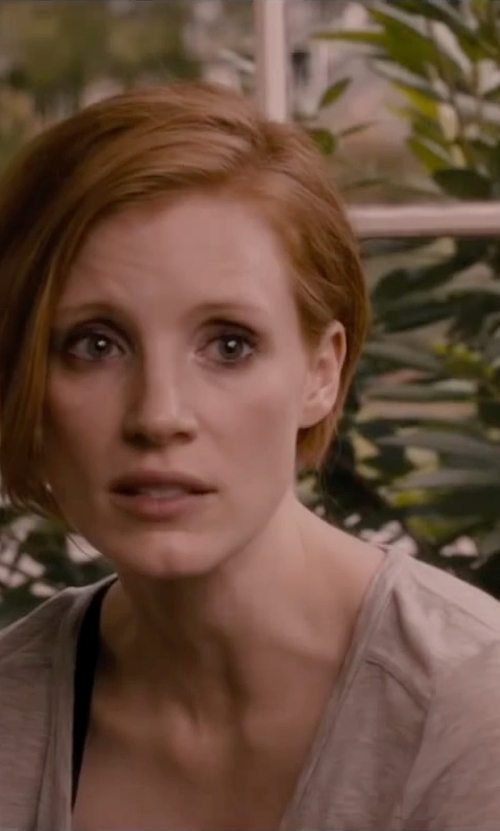 Jessica Chastain with T by Alexander Wang Pocket Classic T Shirt in The Disappearance of Eleanor Rigby