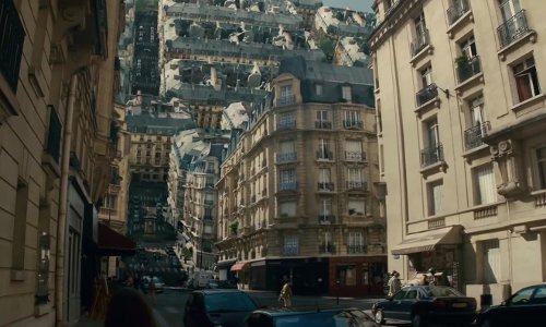 Leonardo DiCaprio with Rue Bouchut Paris, France in Inception
