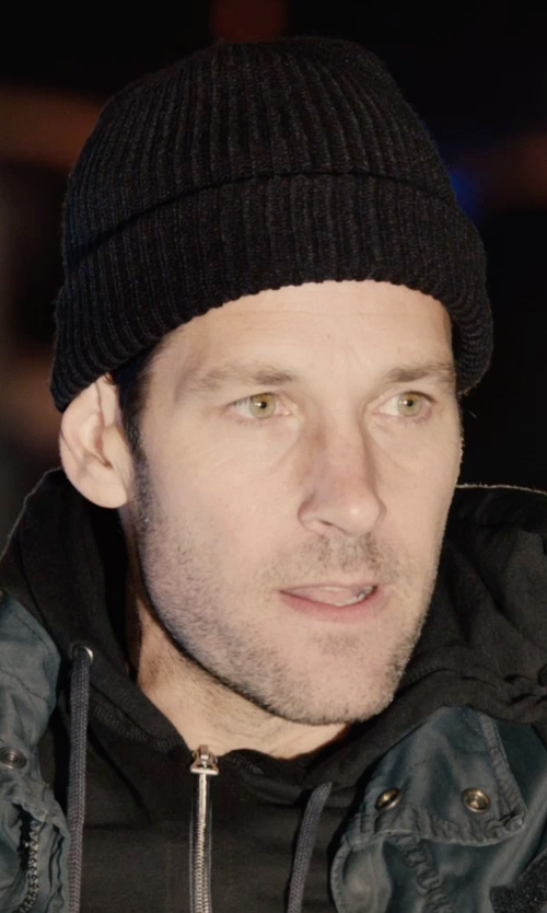 Paul Rudd with AMI Alexandre Mattiussi Ribbed Knit French Beanie Hat in Ant-Man