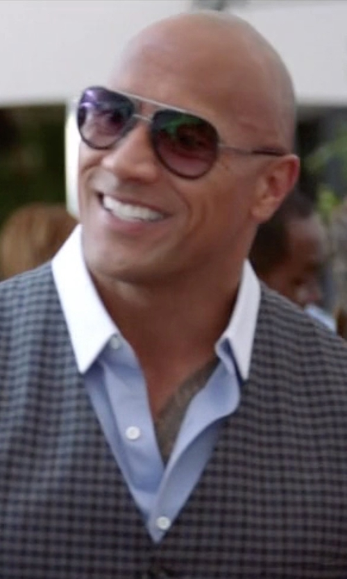 Dwayne Johnson with Dita Mach-Two Sunglasses in Ballers