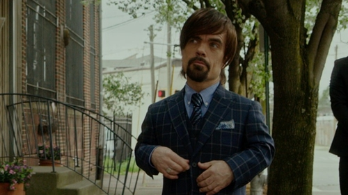 Peter Dinklage with Tommy Hilfiger Dot-Print Pocket Square in The Boss