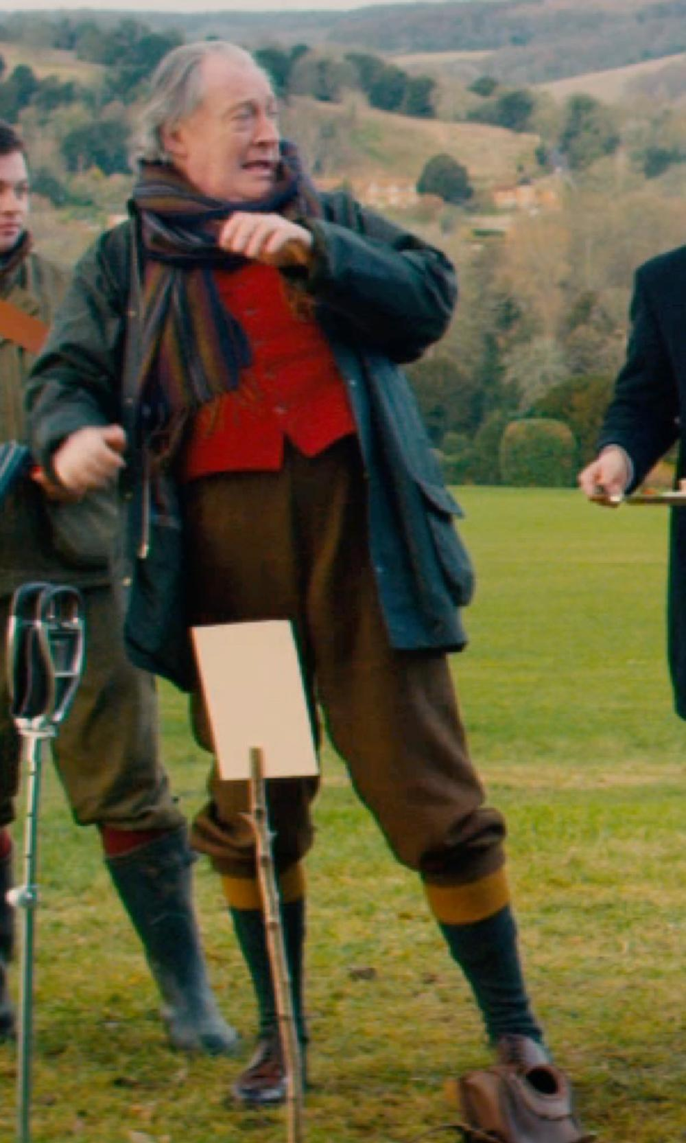 Michael Culkin with House of Cheviot Bowmore Country Socks in Mortdecai