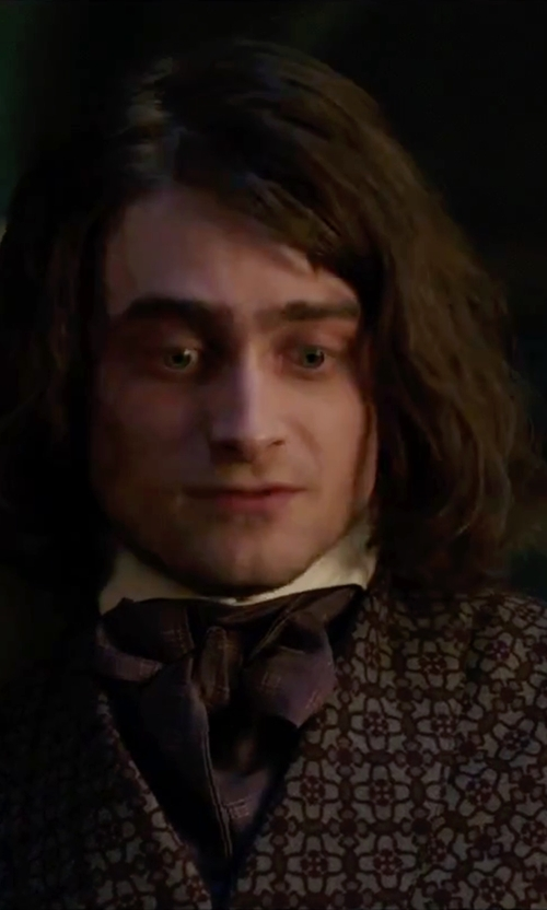Daniel Radcliffe with Brooks Brothers Ancient Madder Ascot in Victor Frankenstein