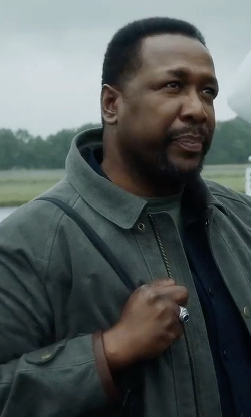 Wendell Pierce with Theory Canvas Field Jacket in Jack Ryan