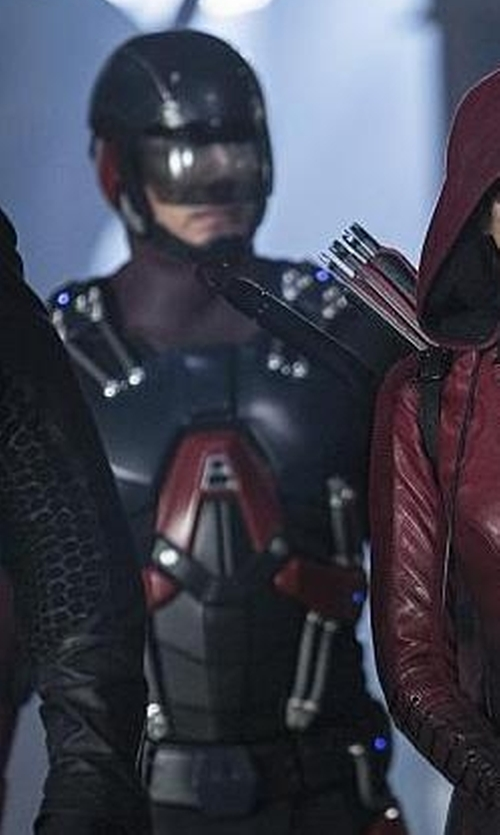Brandon Routh with Maya Mani (Costume Designer) Custom Made 'Atom' Costume in The Flash