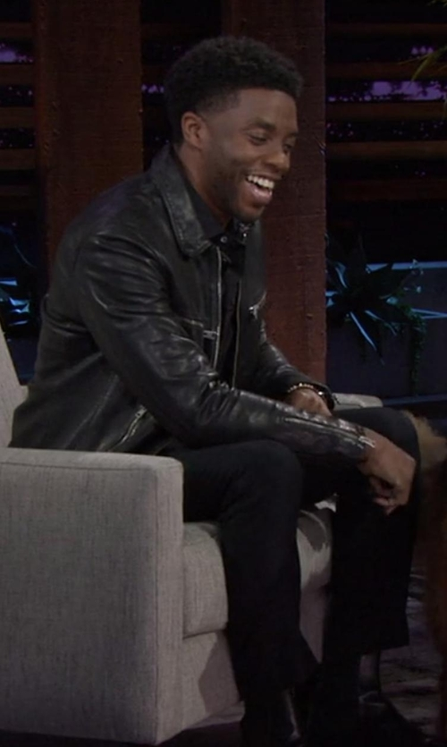 Chadwick Boseman with Original Penguin Slim Stretch Chino Pants in Chelsea