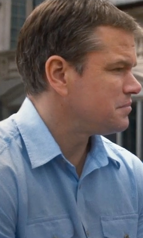 Matt Damon with Gramicci Pescador Tech Shirt in Downsizing