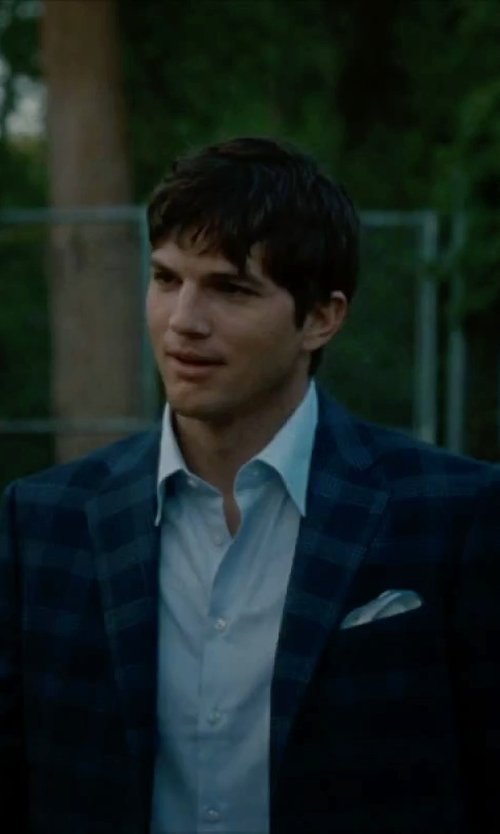 Ashton Kutcher with Joseph Abboud Men's Plaid Sport Coat in No Strings Attached