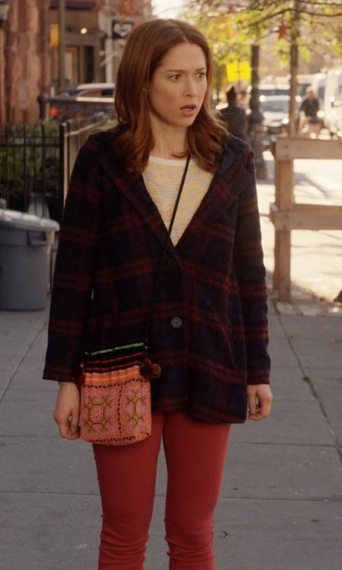 Ellie Kemper with BB Dakota Kellen Plaid Sherpa-Hood Jacket in Unbreakable Kimmy Schmidt