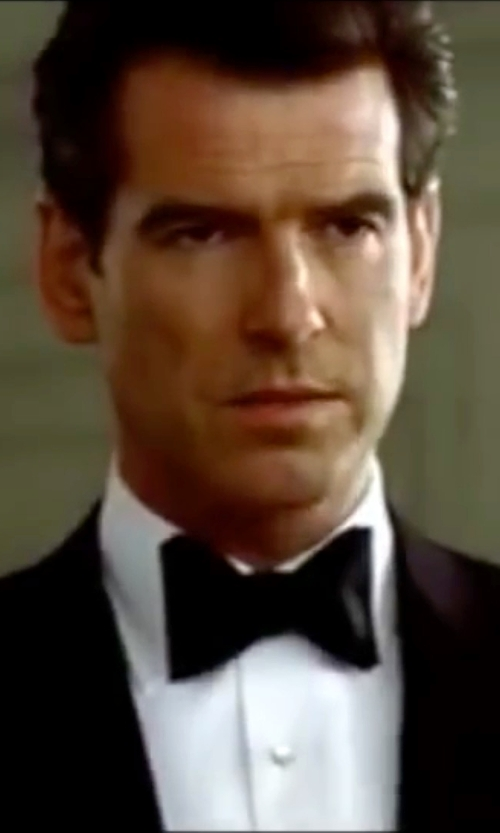Pierce Brosnan with Turnbull & Asser Structured Collar Cotton Shirt in The World is Not Enough