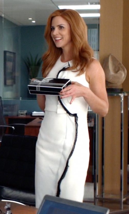 Sarah Rafferty with 3.1 Phillip Lim	 Distorted Ruffle Silk Dress in Suits