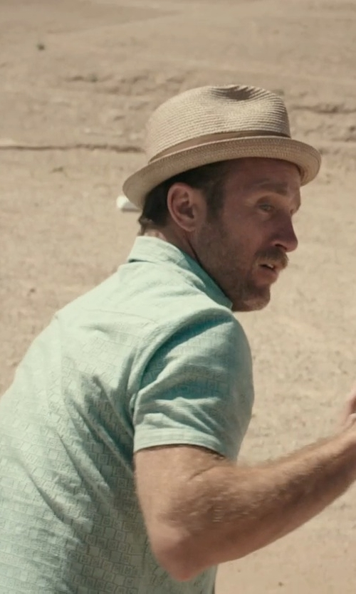 Scott Caan with RVCA 'Pox' Slim Fit Short Sleeve Print Poplin Woven Shirt in Rock The Kasbah