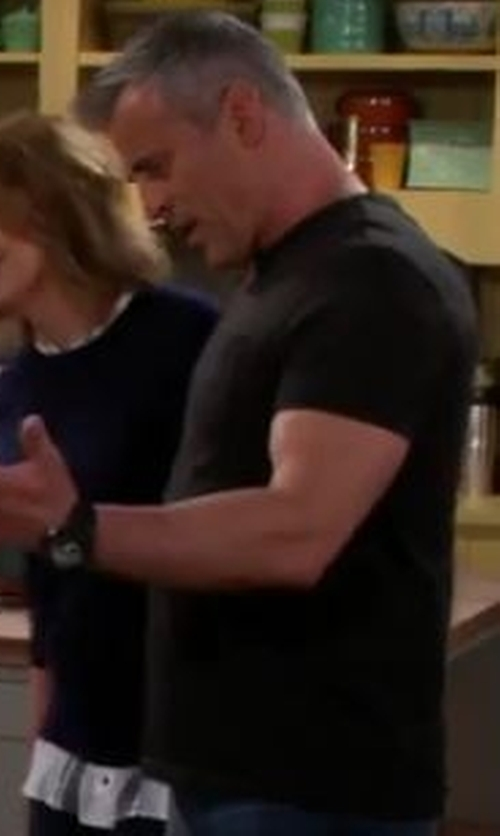 Matt LeBlanc with G-Shock Men's Analog-Digital Black Resin Strap Watch in Man With A Plan