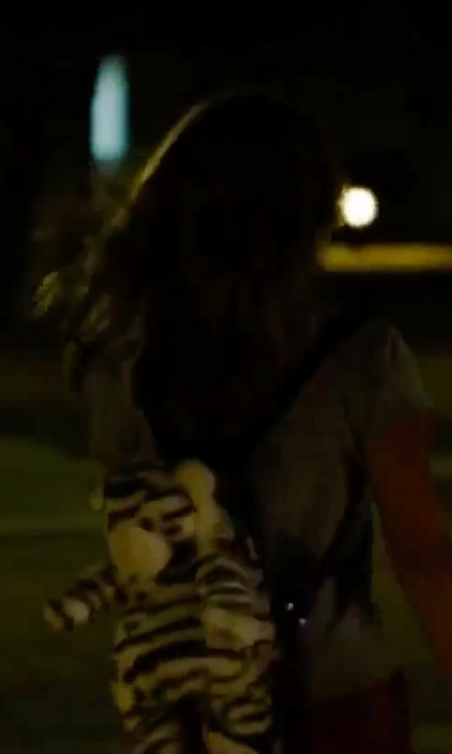 Vanessa Hudgens with Pillow Pets Plush Zebra Backpack in Spring Breakers