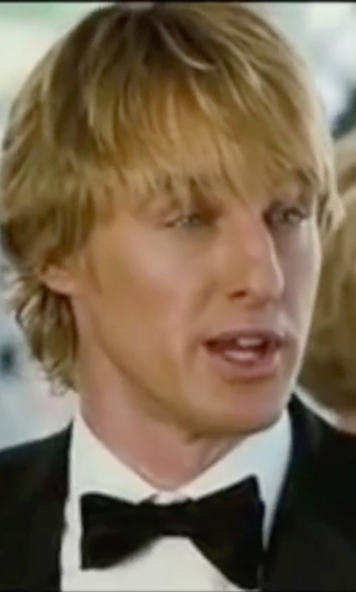 Owen Wilson with Barneys New York Satin Double-Layer Bow Tie in Wedding Crashers