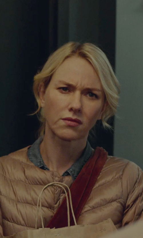 Naomi Watts with Versace Jeans Down Jacket in While We're Young