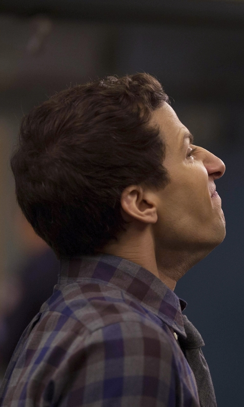 Andy Samberg with Selected Homme Button Down Shirt in Brooklyn Nine-Nine