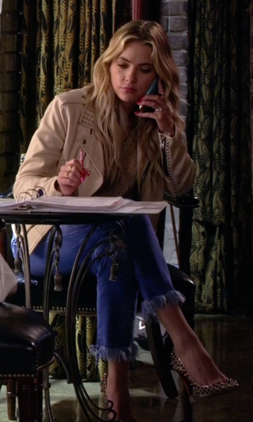 Ashley Benson with Christian Louboutin Follies Spikes Pumper Dame Pumps in Pretty Little Liars
