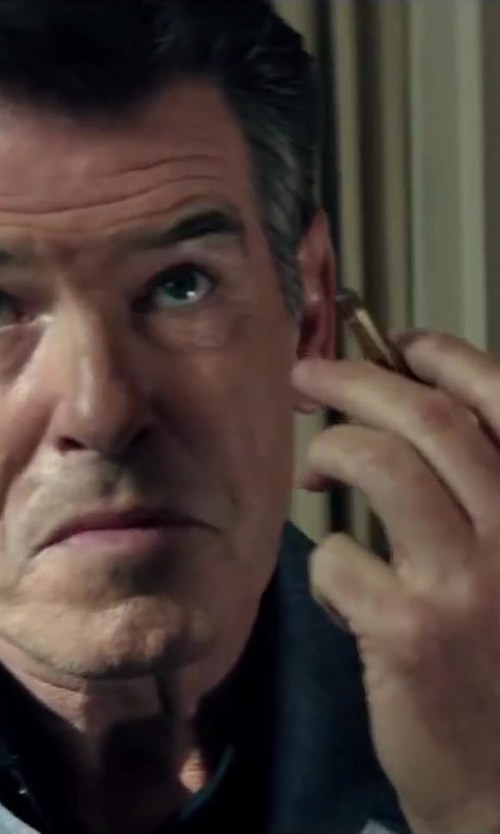 Pierce Brosnan with Topman Indigo Sportcoat in The November Man