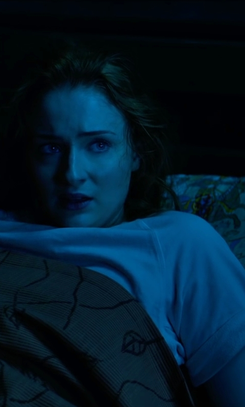 Sophie Turner with Duffy Cotton-Blend T-Shirt in X-Men: Apocalypse