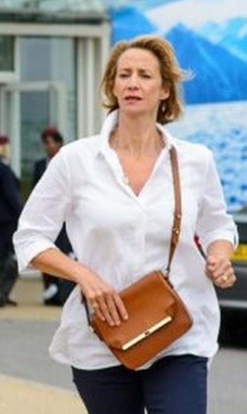 Janet McTeer with Hobbs Janie Texture Shirt in Me Before You