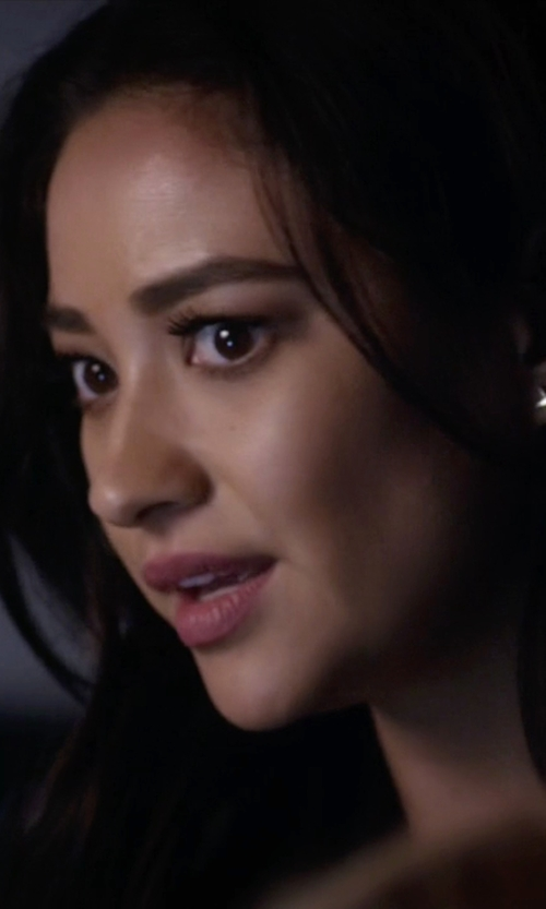 Shay Mitchell with Luv Aj The Cross Stud Chain Earring in Pretty Little Liars