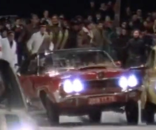 Diana Rigg with Mercury 1969 Cougar Convertible in On Her Majesty's Secret Service