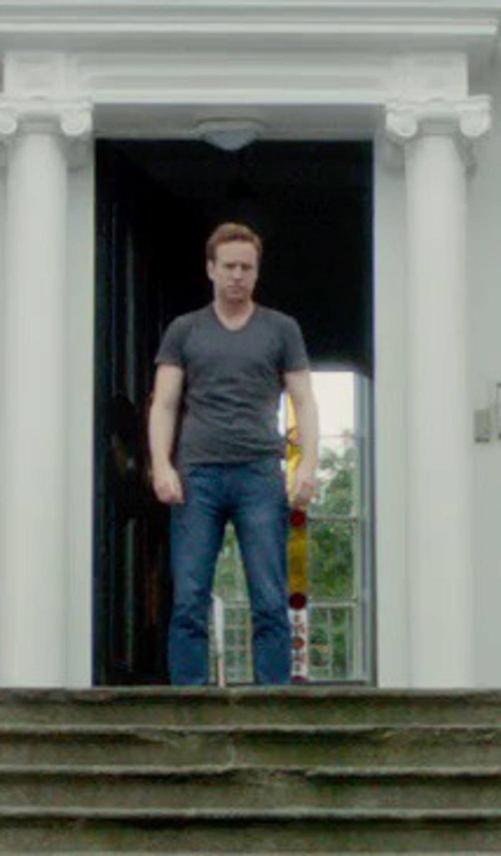 Rafe Spall with AG Adriano Goldschmied Dylan Skinny Jeans in What If