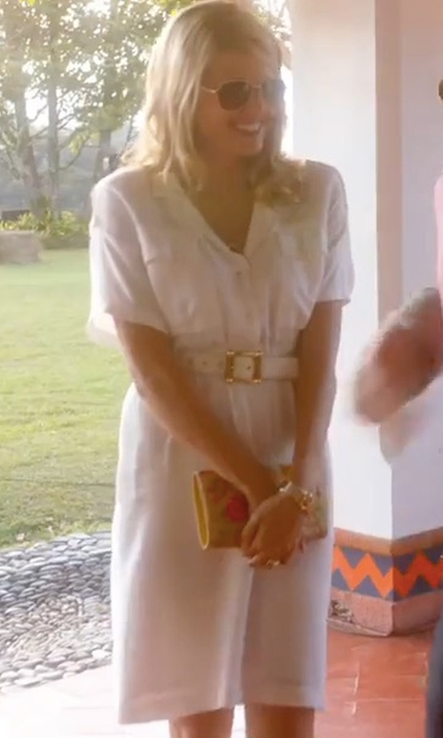 Sarah Wright with Diane von Furstenberg Collared Cotton Shirtdress in American Made
