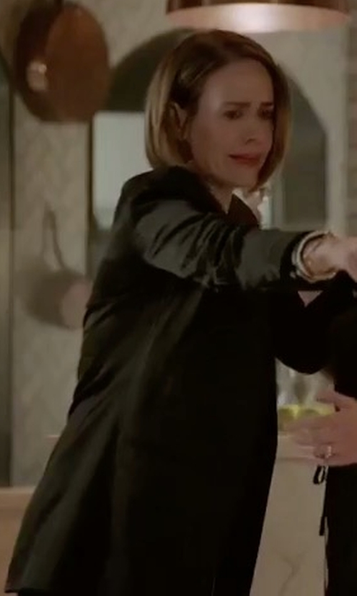Sarah Paulson with Eileen Fisher Washable Crepe Long Jacket in American Horror Story