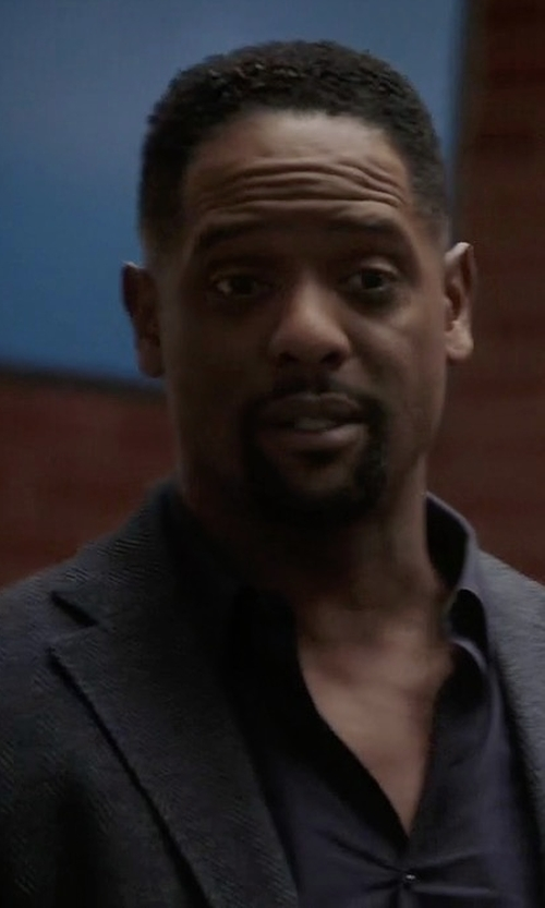 Blair Underwood with Theory Rodolf Double-Face Blazer in Quantico