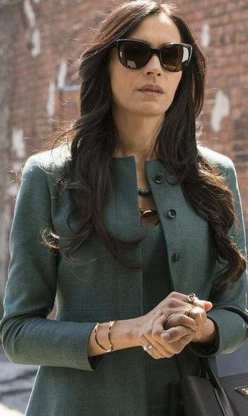 Famke Janssen with DSquared2 Collarless Coat in The Blacklist