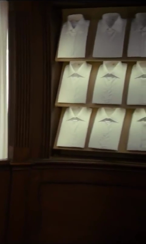 Colin Firth with Turnbull & Asser Cream Royal Oxford Cotton Shirt in Kingsman: The Secret Service