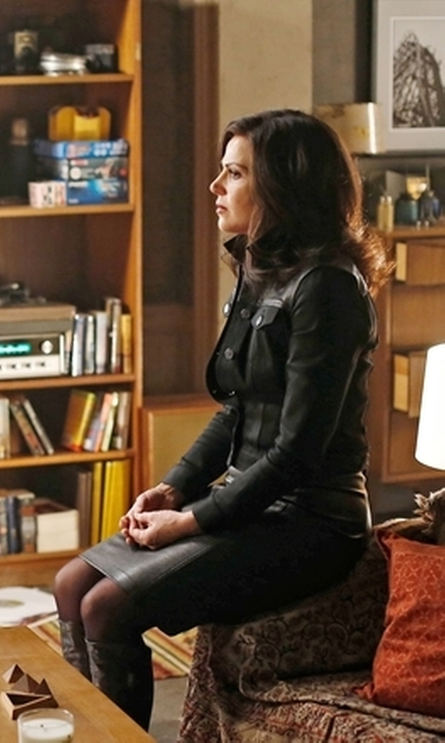 Lana Parrilla with McQ New Contour Skirt in Once Upon a Time