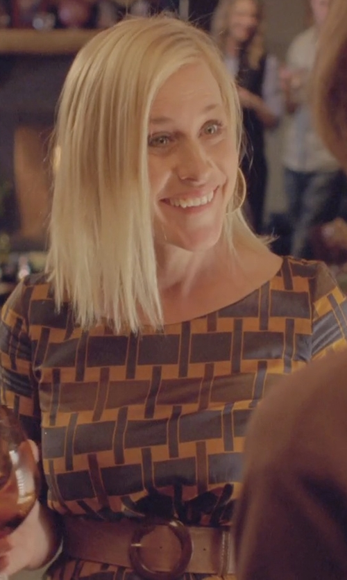 Patricia Arquette with Armani Jeans Suede Belt in Boyhood