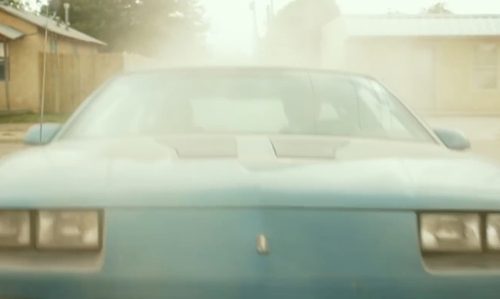 Ben Foster with Chevrolet 1991 Camaro Z28 Convertible in Hell or High Water